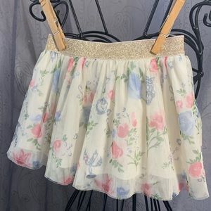Disney Beauty & The Beast Tulle Skirt with Shorts